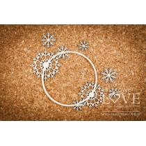 Tekturka -Delikatna ramka ze śnieżynkami- Arctic Sweeties - LA18619- Laserowe LOVE
