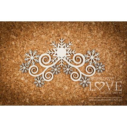Tekturka -Ornament ze śnieżynkami - Arctic Sweeties - LA18620- Laserowe LOVE