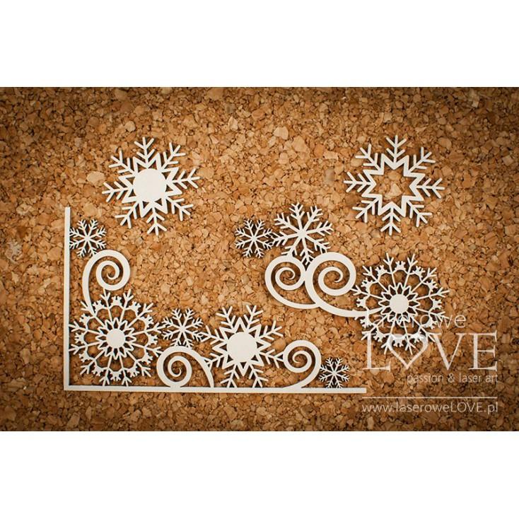 Tekturka -Ornament ze śnieżynkami  - Arctic Sweeties - LA18621- Laserowe LOVE