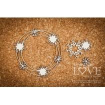 Tekturka -Ramka ljana ze śnieżynkami- Arctic Sweeties - LA18621- Laserowe LOVE