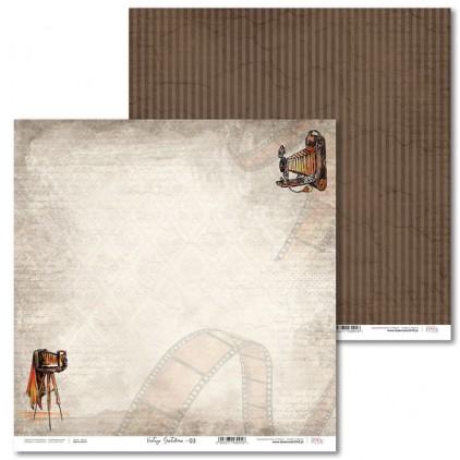 Scrapbooking paper - Vintage Gentelman - 03 - Laserowe LOVE