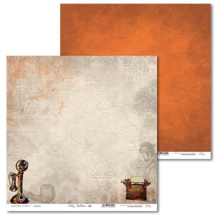 Scrapbooking paper - Vintage Gentelman - 06 - Laserowe LOVE