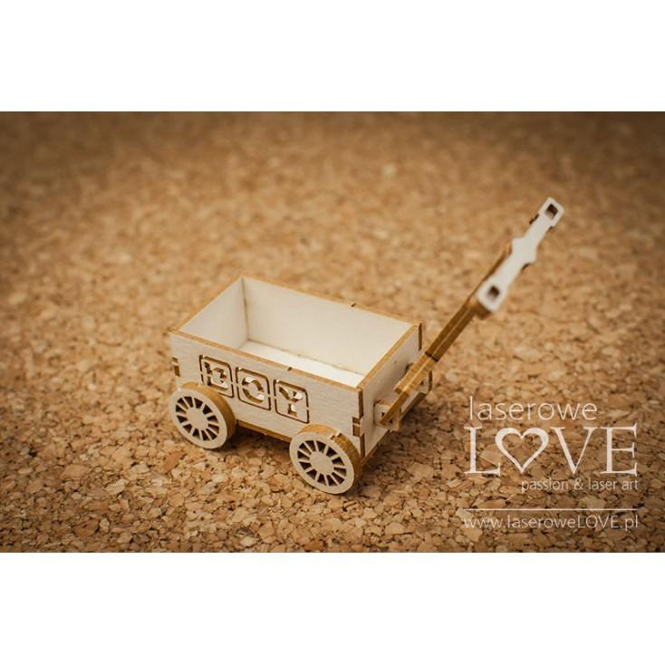 Tekturka -Wózek 3D chłopiec -Vintage Baby - LA18512- Laserowe LOVE