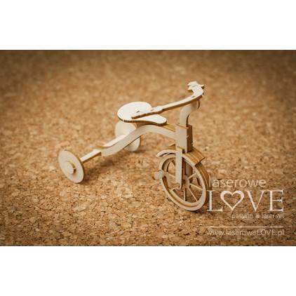 Tekturka -Rowerek trójkołowy 3D -Vintage Baby - LA18524- Laserowe LOVE
