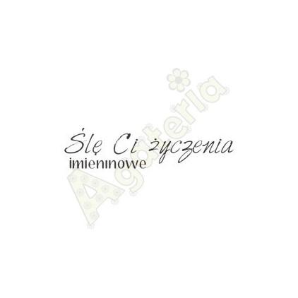 Agateria - stempel polimerowy - Ślę Ci życzenia imieninowe