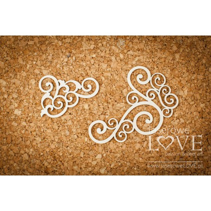 Tekturka - Ornament narożny - Vintage Ornaments - LA18220- Laserowe LOVE