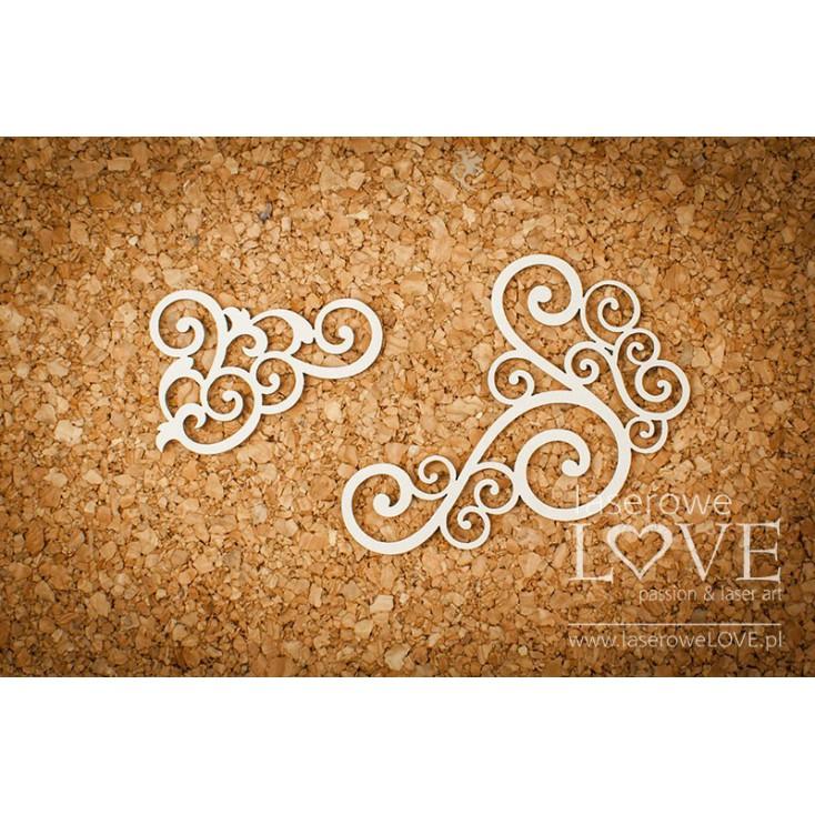 Cardboard - Corner ornament - Vintage Ornaments - LA18220 - Laserowe LOVE