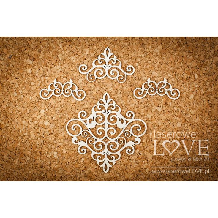 Tekturka - Ornamenty - Vintage Ornaments - LA18226- Laserowe LOVE