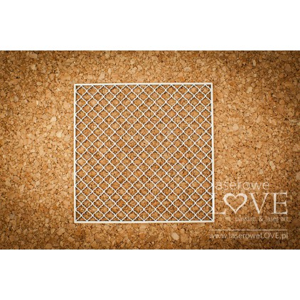 Cardboard -Grid background- Vintage Ornaments - LA18227 - Laserowe LOVE