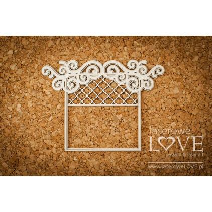 Tekturka - Ramka okno - Vintage Ornaments - LA18228- Laserowe LOVE