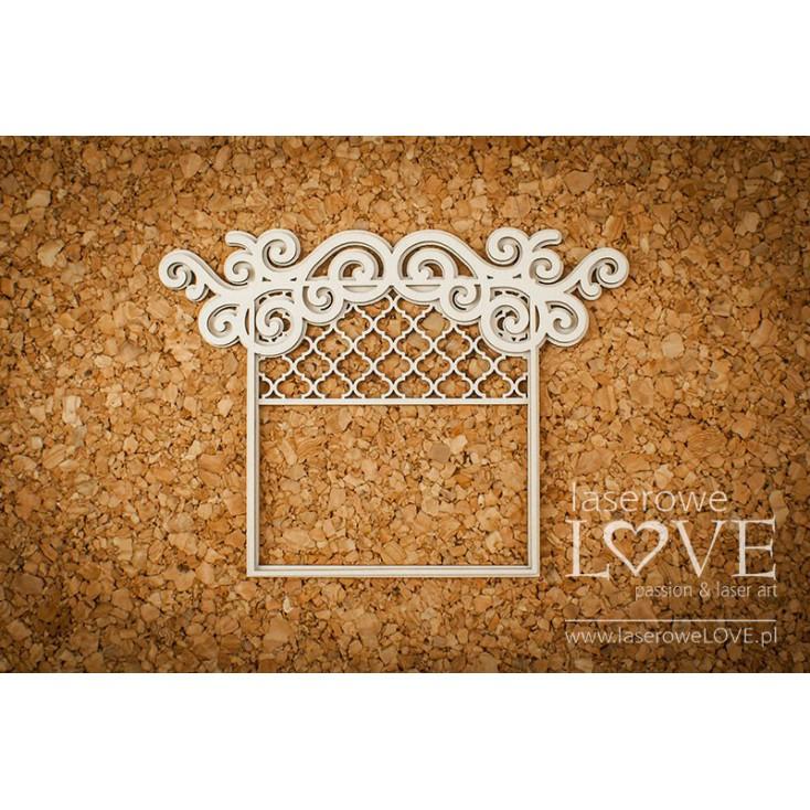Cardboard -Frame window- Vintage Ornaments - LA18228 - Laserowe LOVE