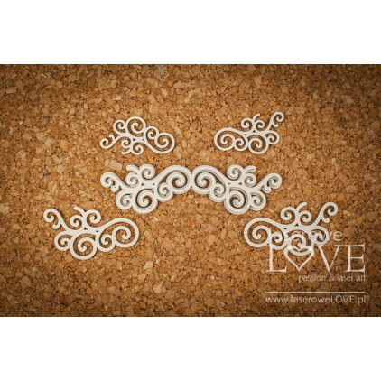 Cardboard -Round ornaments- Vintage Ornaments - LA18231 - Laserowe LOVE