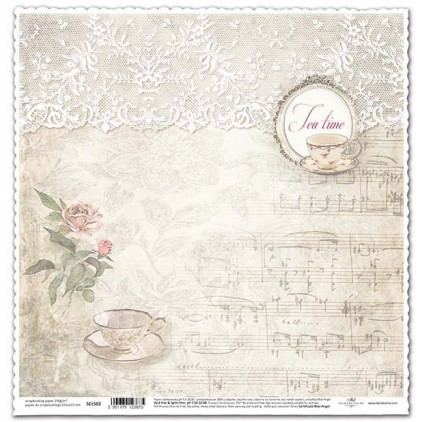 Scrapbooking vintage paper tea time -ITD Collection SCL502
