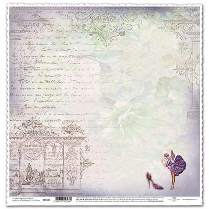 Papier vintage moda do scrapbookingu - ITD Collection SCL505