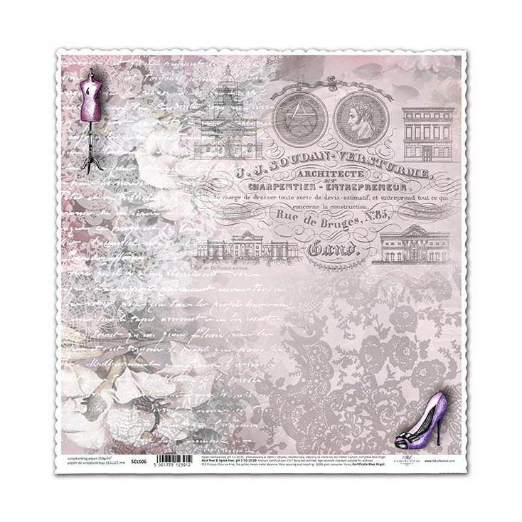 Scrapbooking paper -ITD Collection - SCL506