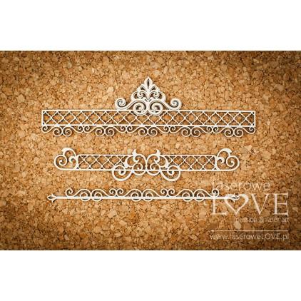 Cardboard -Ornaments- Vintage Ornaments - LA18233 - Laserowe LOVE