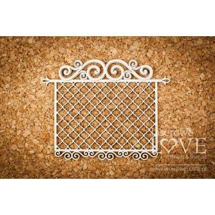 Cardboard -Frame with ornaments- Vintage Ornaments - LA18234 - Laserowe LOVE