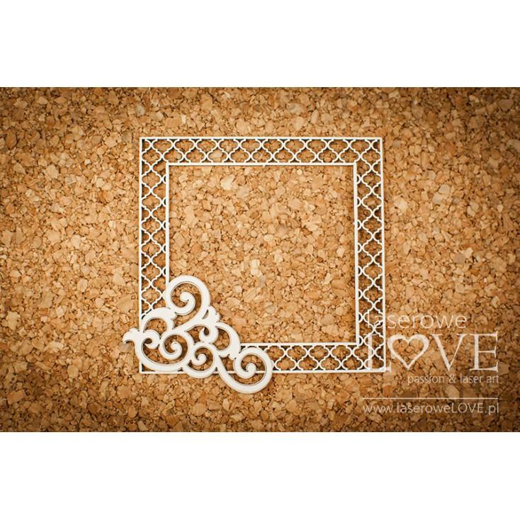 Cardboard -Frame with corner ornament - Vintage Ornaments - LA18235 - Laserowe LOVE