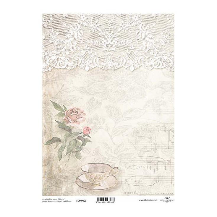 Papier do scrapbookingu A4 - SCM003 -ITD Collection