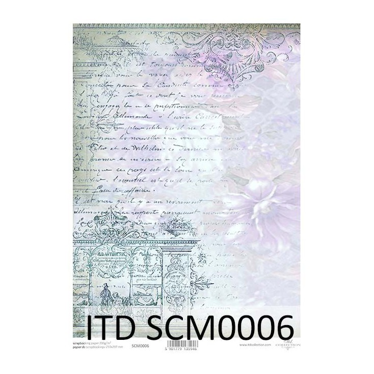 Scrapbooking paper A4 - SCM006 - ITD Collection