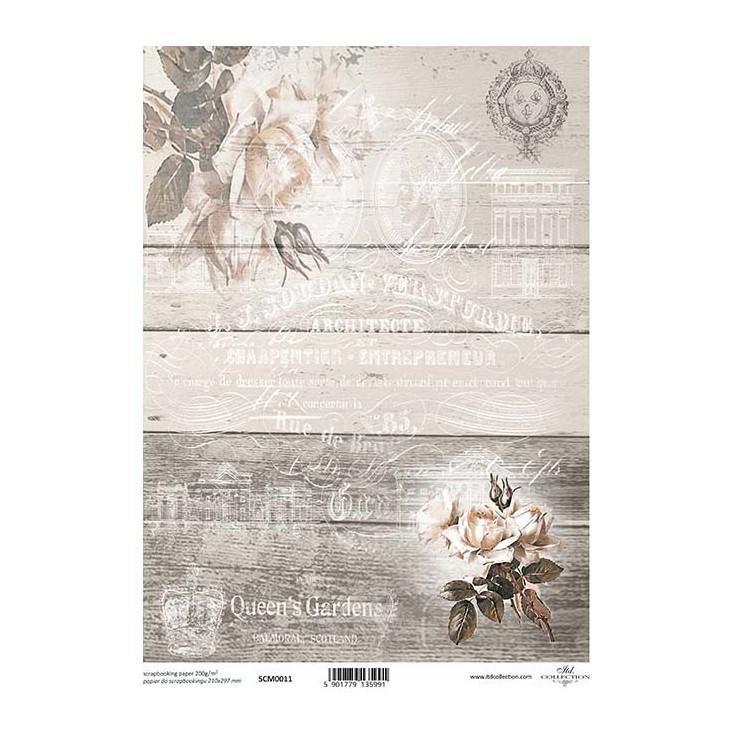 Papier do scrapbookingu A4 - SCM011 -ITD Collection