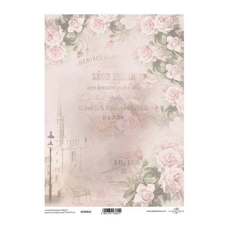 Papier do scrapbookingu A4 - SCM013 -ITD Collection
