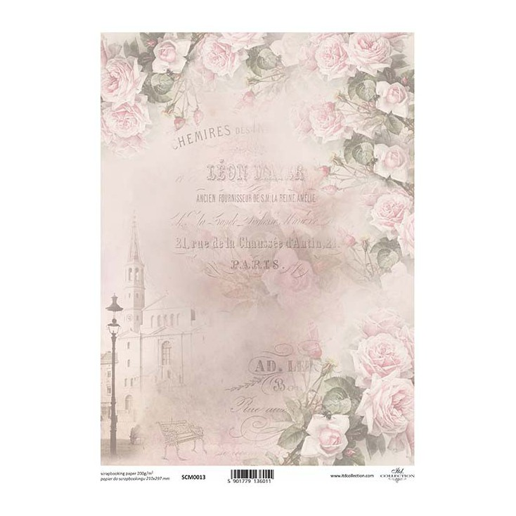 Scrapbooking paper A4 - SCM013 - ITD Collection