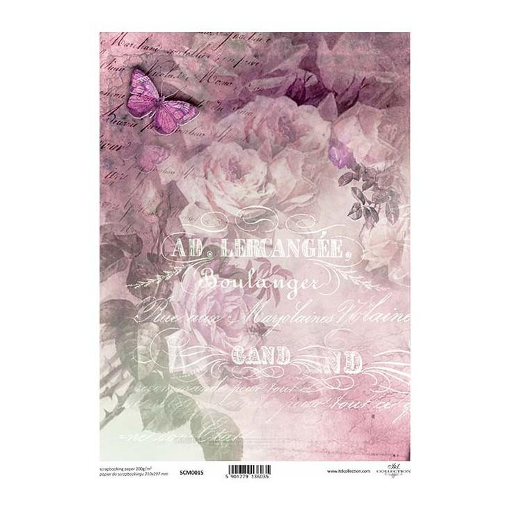 Papier do scrapbookingu A4 - SCM015 -ITD Collection