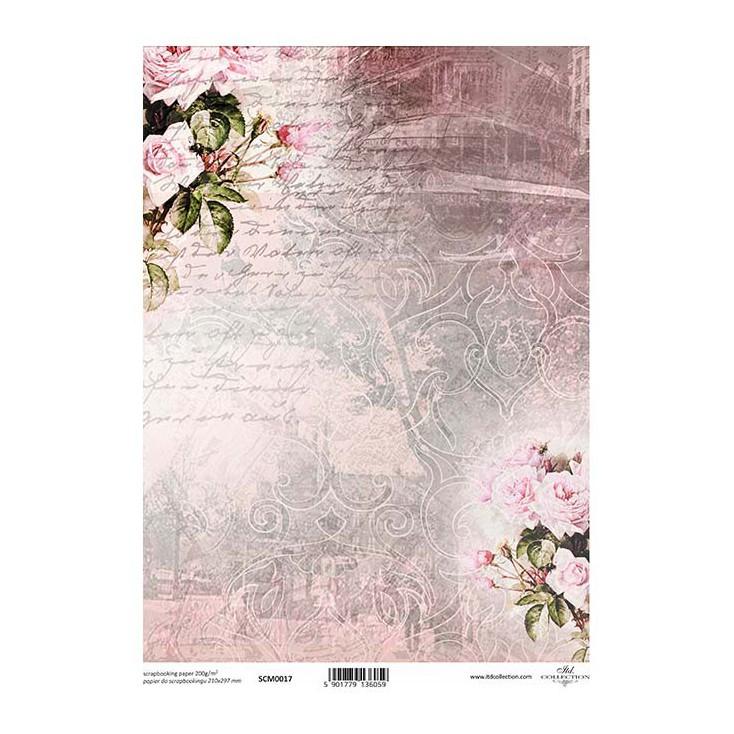 Papier do scrapbookingu A4 - SCM017 -ITD Collection