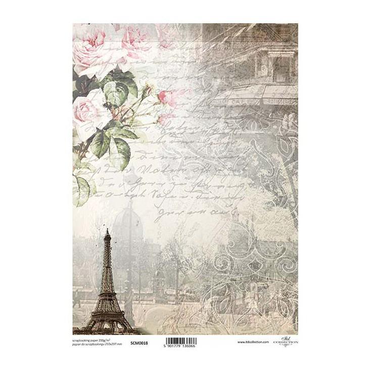 Papier do scrapbookingu A4 - SCM018 -ITD Collection
