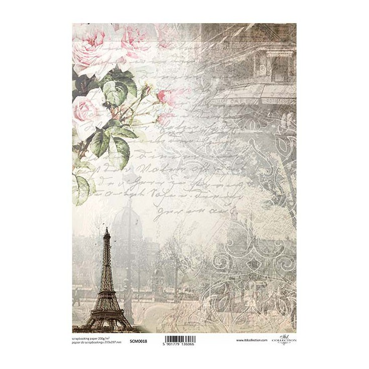 Scrapbooking paper A4 - SCM018 - ITD Collection