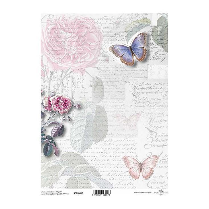 Papier do scrapbookingu A4 - SCM019 -ITD Collection