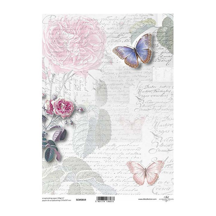Scrapbooking paper A4 - SCM019 - ITD Collection