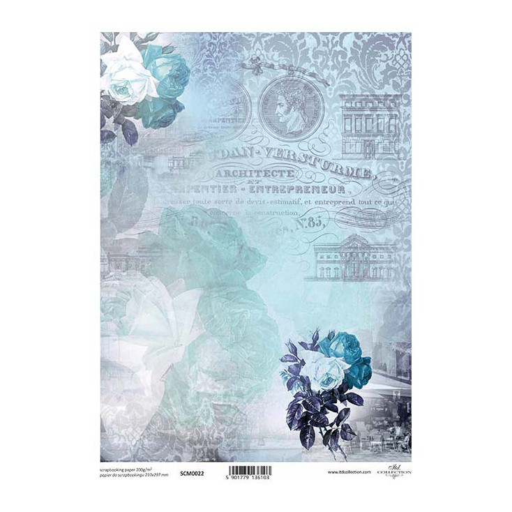 Scrapbooking paper A4 - SCM021 - ITD Collection