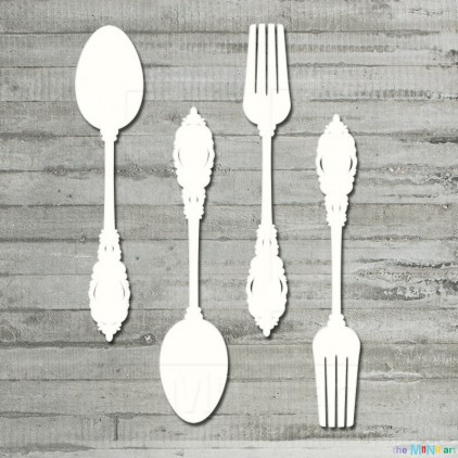 Vintage cutlery- Cardboard element - the MiNi art