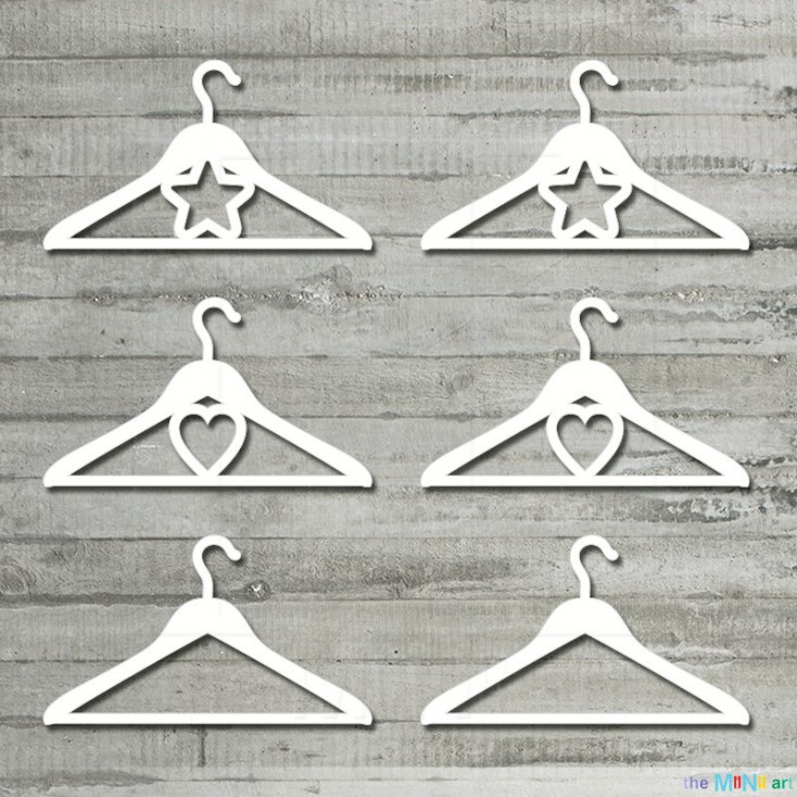 Little baby - little hangers- Cardboard element - the MiNi art
