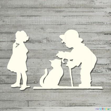 Zestaw - dzieci 1 - tekturka - the MiNi art