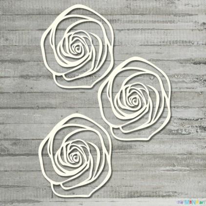 Zestaw ażurowych róż - M - tekturka - the MiNi art
