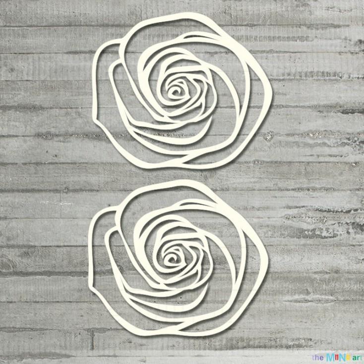 Zestaw ażurowych róż - L - tekturka - the MiNi art