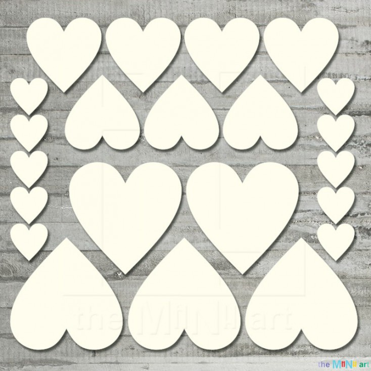 Hearts set Hearts set - Cardboard element - the MiNi art