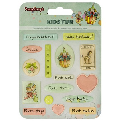 Epoxy Strickers - Kids'Fun- Scrapberry's
