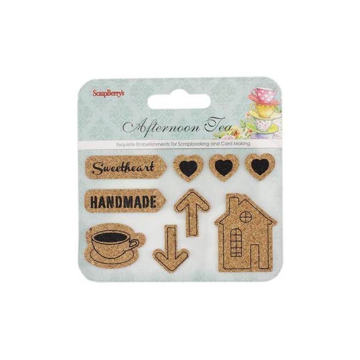 Naklejki korkowe- Afternoon Tea- Scrapberry's