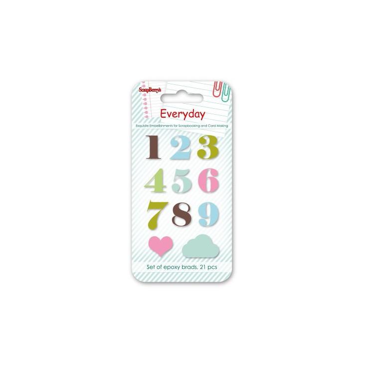 Naklejki emaliowane - Everyday 1- scrapberry's