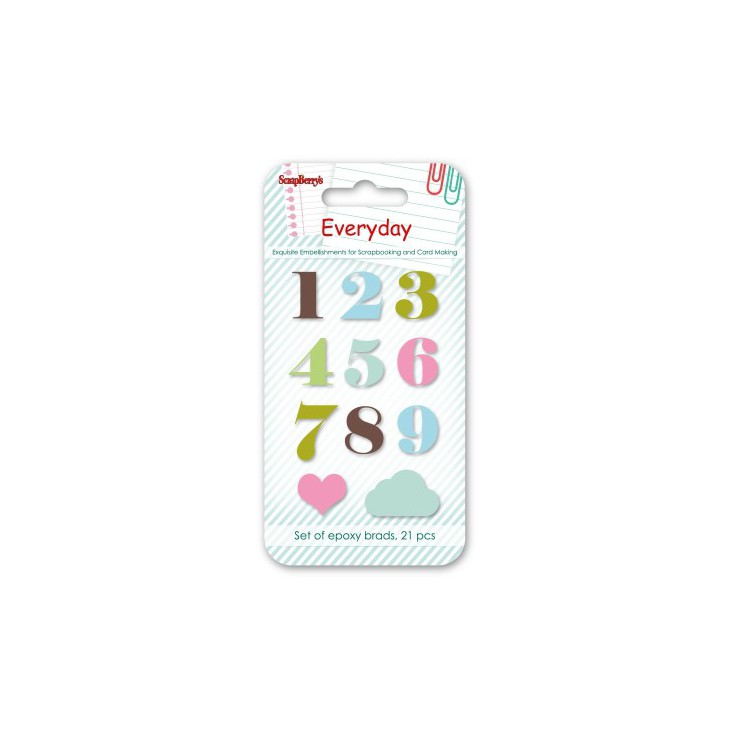 Set enamel epoxy stickers - Everyday 1- scrapberry's