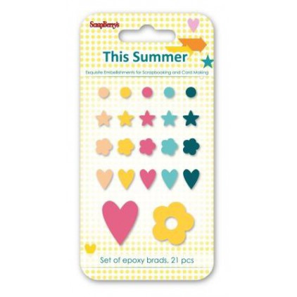 Set enamel epoxy stickers - This Summer- scrapberry's