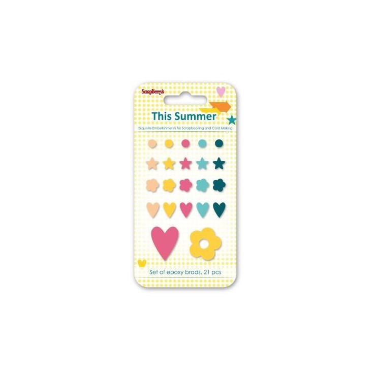 Set enamel epoxy stickers - This Summer- scrapberry's