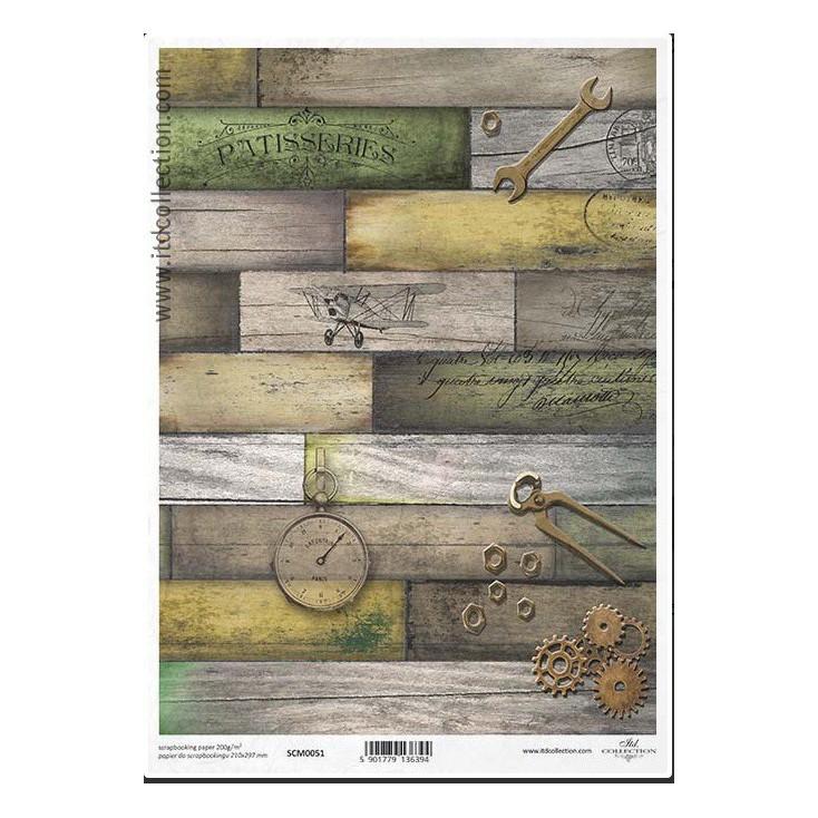Papier do scrapbookingu A4 - SCM051 -ITD Collection