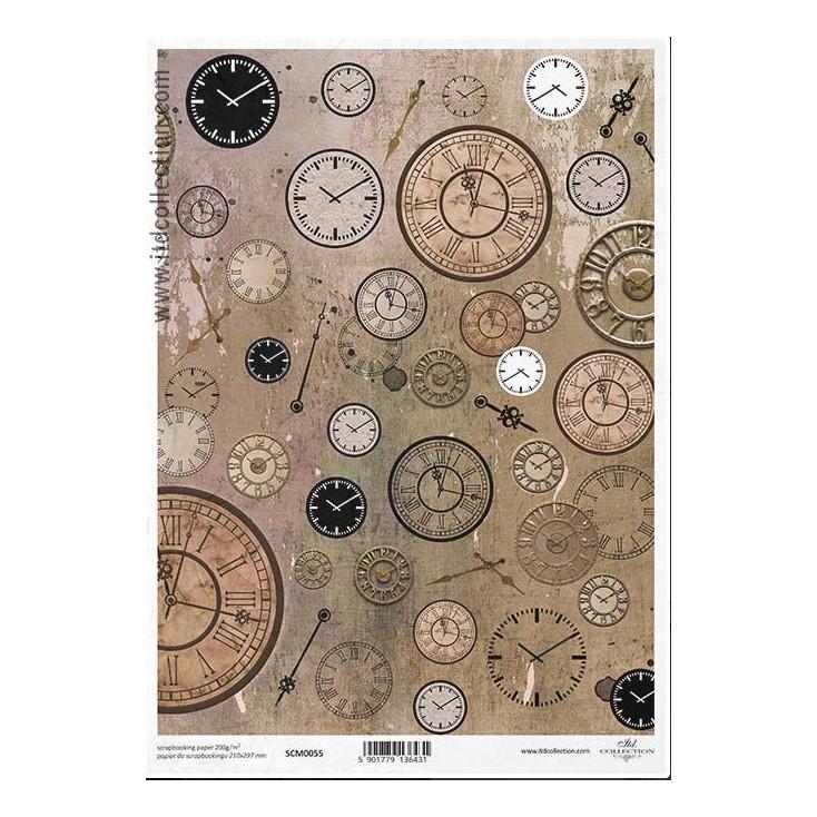 Papier do scrapbookingu A4 - SCM055 -ITD Collection