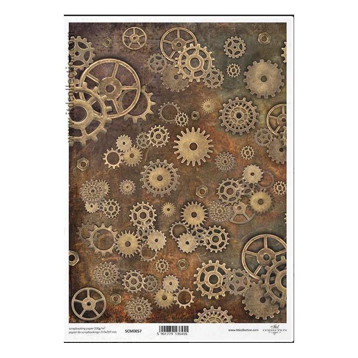 Papier do scrapbookingu A4 - SCM057 -ITD Collection