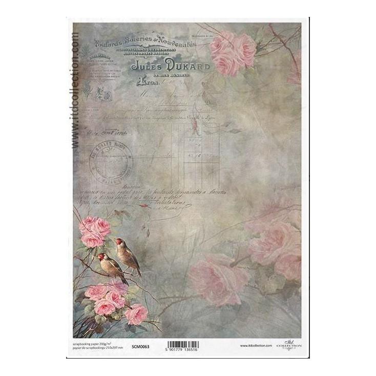 Papier do scrapbookingu A4 - SCM063 -ITD Collection